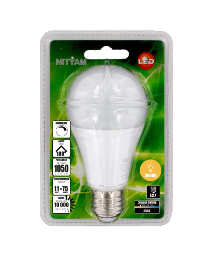 LED STANDARD A60 11W 1050lm E27 3000K DIMMABLE