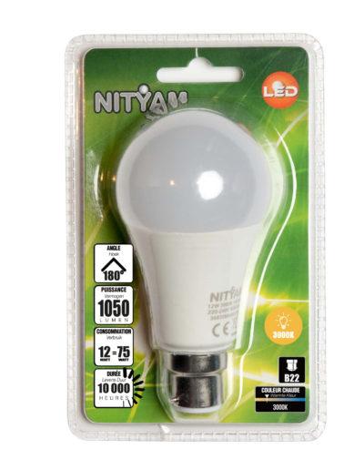 LED STANDARD A60 12W 1050lm B22 3000K