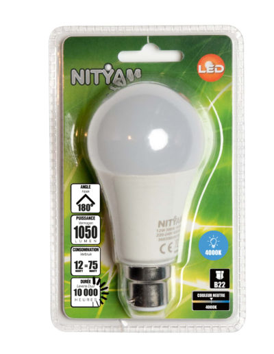 LED STANDARD A60 12W 1050lm B22 4000K