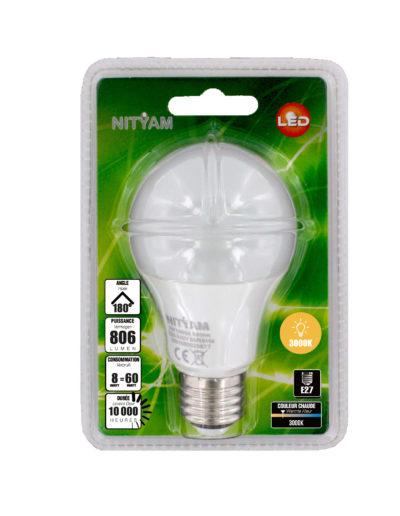 LED STANDARD A60 8W 806lm E27 3000K