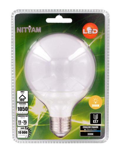 LED GLOBE G95 11W 1050lm E27 3000K